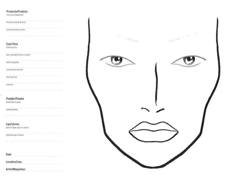 50 best BLANK FACE CHARTS images on Pinterest | Makeup face charts ...