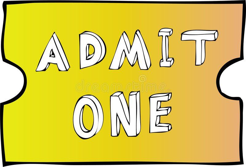 Admit One Blank Ticket Royalty Free Stock Images - Image: 6006479