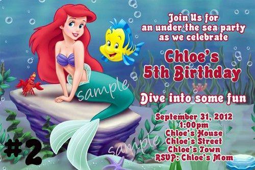 Ariel Birthday Invitations Ideas – Bagvania FREE Printable ...
