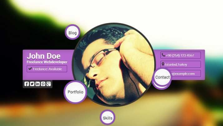 Top 40 Professional Online CV & Resume Templates | Web Development ...
