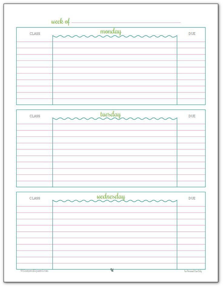 568 best SECONDARY CLASSROOM forms images on Pinterest | Planner ...