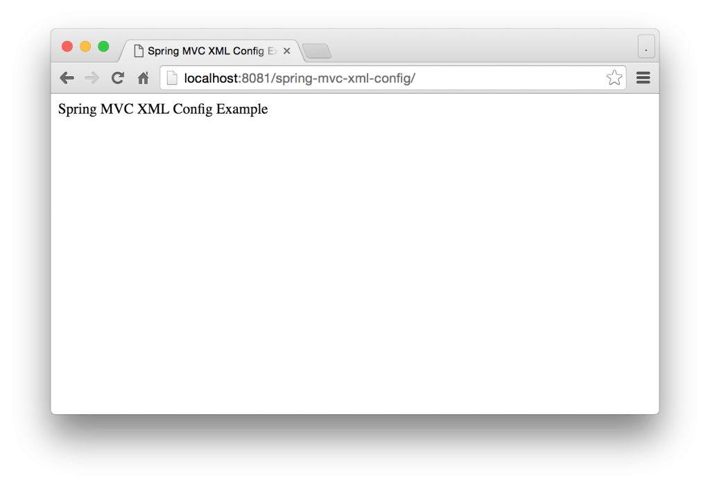 Spring MVC XML Configuration Example