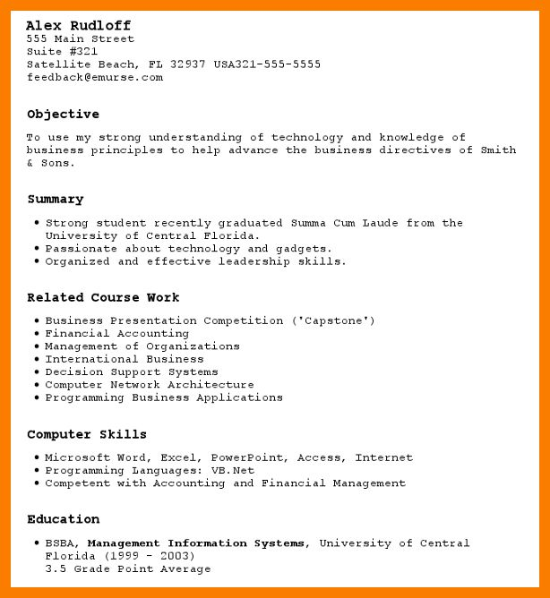 High school resume examples for jobs