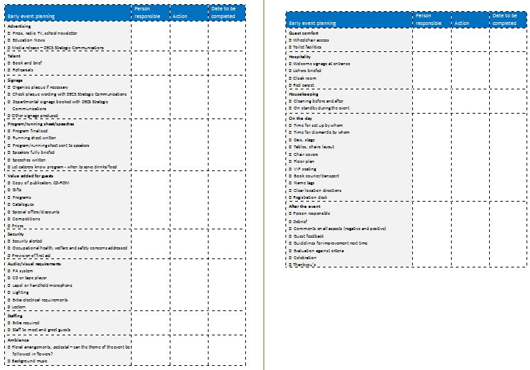 Conference Planning Template | Best Example Of Business Template