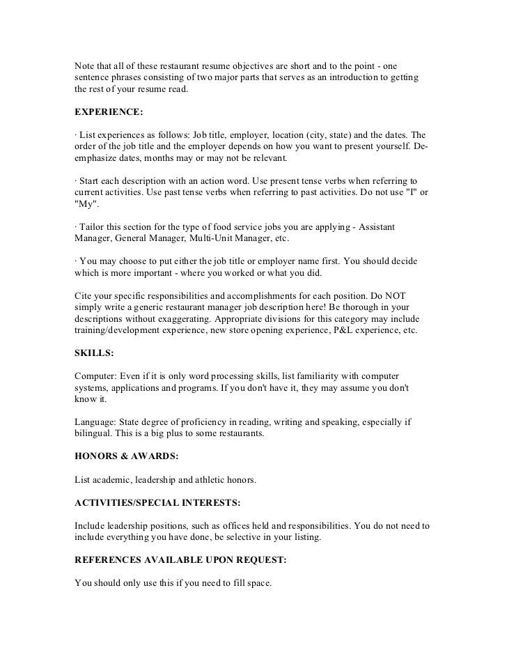 Restaurant management resumes