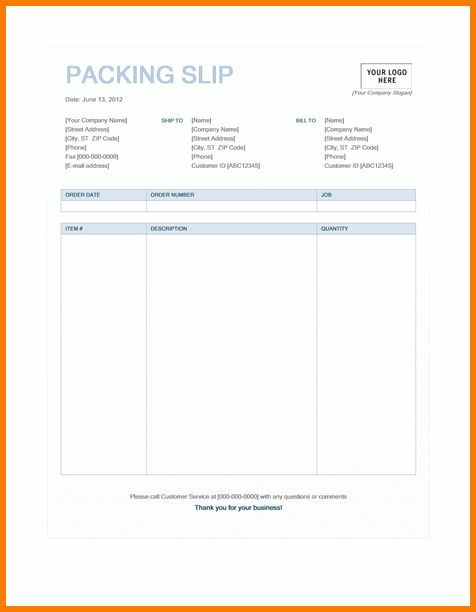6+ packing slip template | Receipt Templates