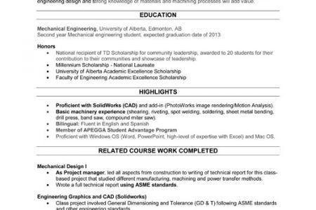 resume for audio engineer