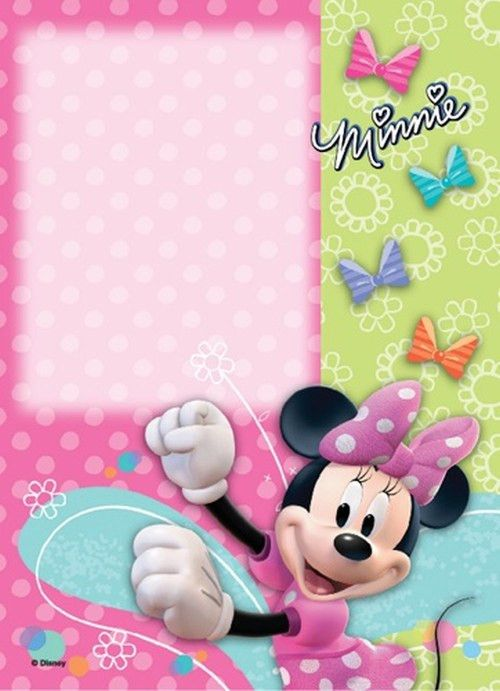 Cute Minnie Mouse Invitation template | You're invited to join 5th ...