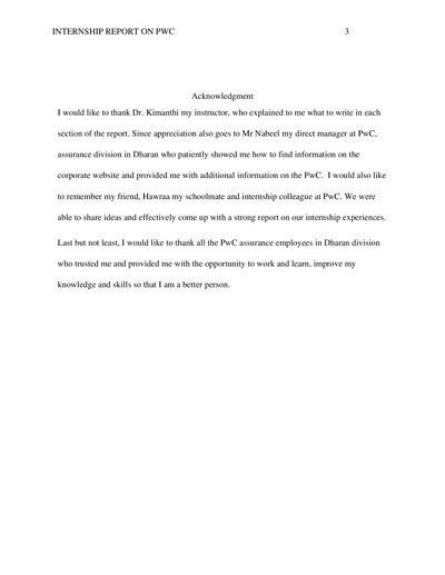 Acknowledgement Report Sample. How To Write The Acknowledgement Of ...