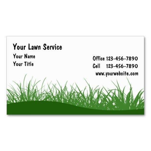 Lawn Business Cards   Lawn Care Business Cards   Pinterest   Lawn ...