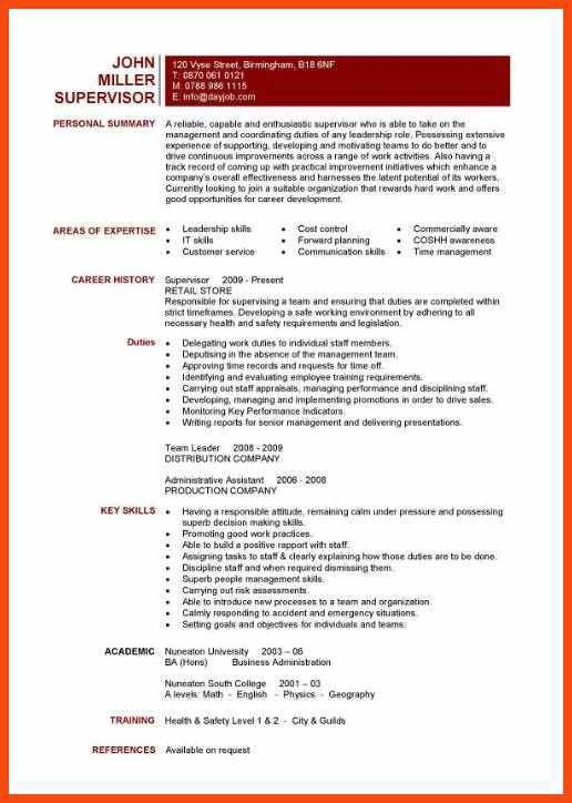 one page resume template | program format
