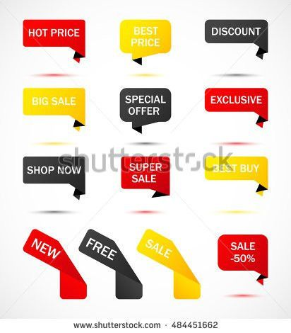 Vector Stickers Price Tag Banner Label Stock Vector 540540727 ...