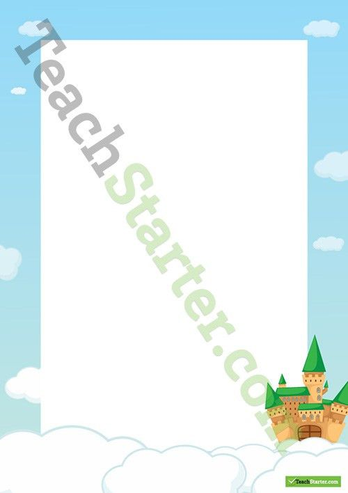 Fairy Tale Castle Border - Word Template Teaching Resource – Teach ...