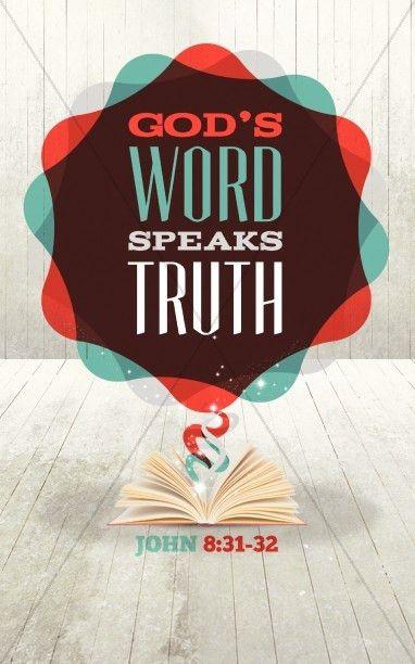 Gods Word Bible Bulletin Cover Template | Sermon Bulletin Covers