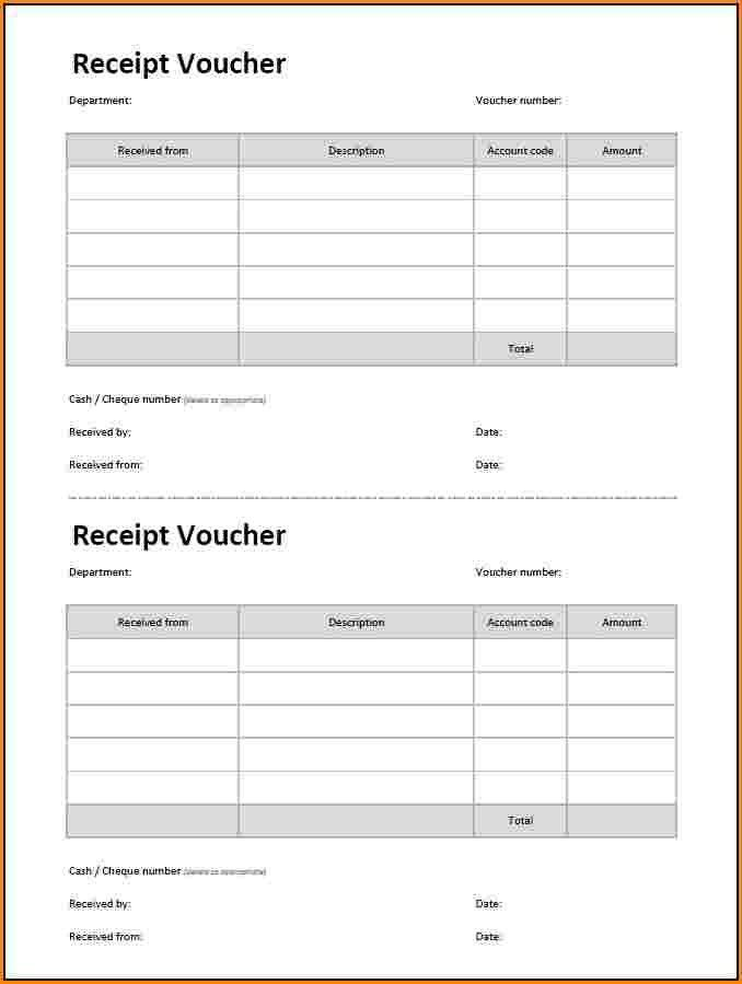 8+ cash receipt voucher format excel free download | Rental ...