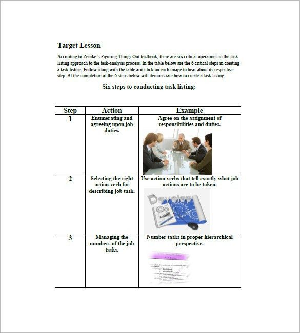 Task List Template – 10+ Free Sample, Example, Format Download ...