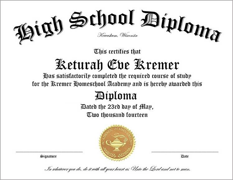 Free Printable High School Diploma Template. Huge Collection of ...