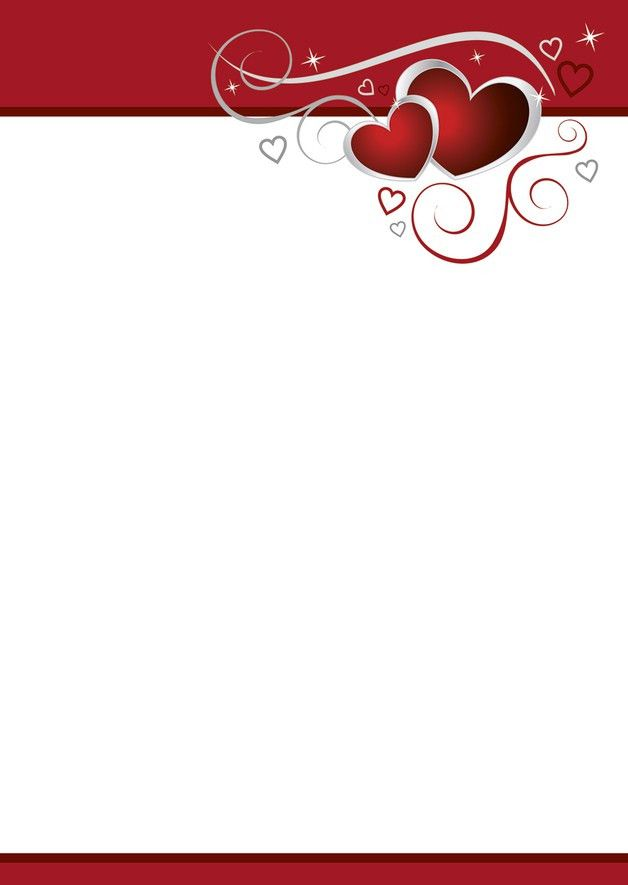 Letter Paper – 20 sheets writing paper design red hearts - love ...