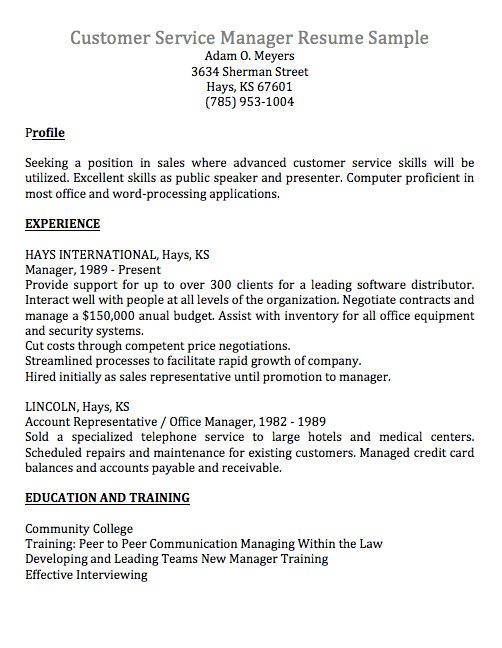 Resume Example Archives - Cover Letter Writing