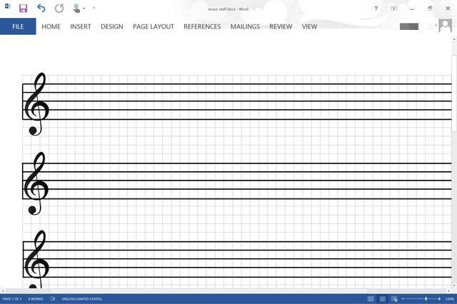 How Do I Make a Music Staff in Microsoft Word? | Techwalla.com