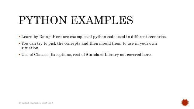 Python programming - Everyday(ish) Examples
