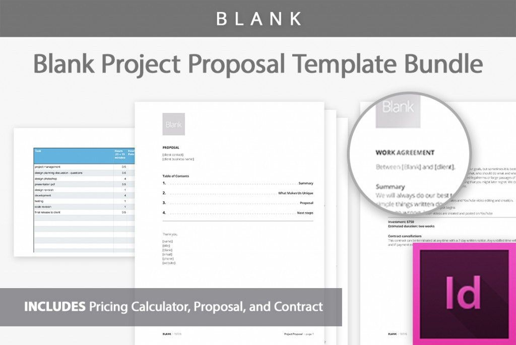 Blank Project Proposal Template - Professional Business