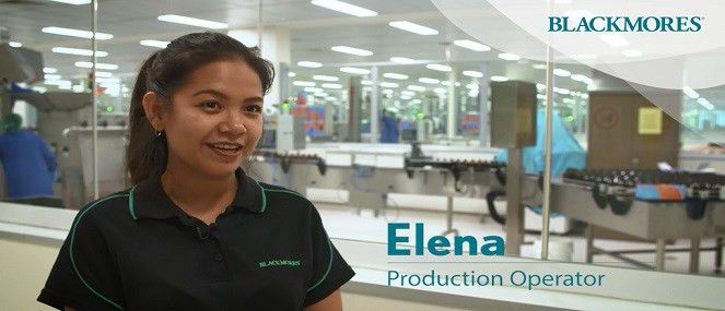 Elena- Production Operator - Blackmores