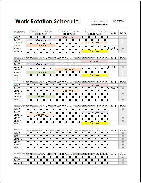 rotating work schedule