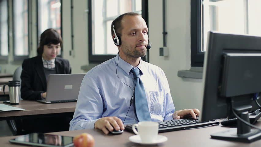 Friendly Customer Service Representative Stock Footage Video ...