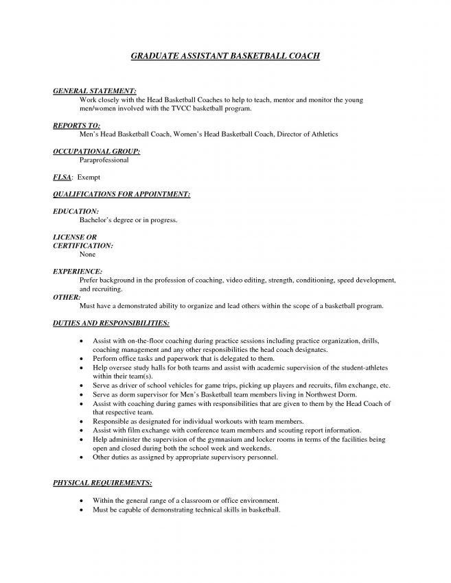 9 Basketball Resume Template For Player Resume high school ...