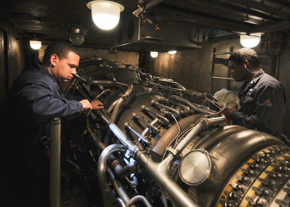 DVIDS - Images - USS Anzio Sailors Check Gas Turbine Engine [Image ...