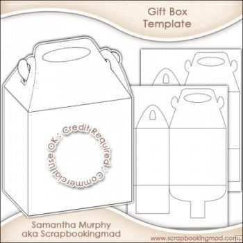 Gift Box Template | Give This A Try | Pinterest | Gift box ...