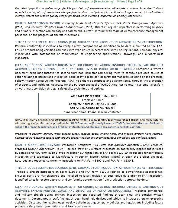 Resume Samples | Organic Resume Creations