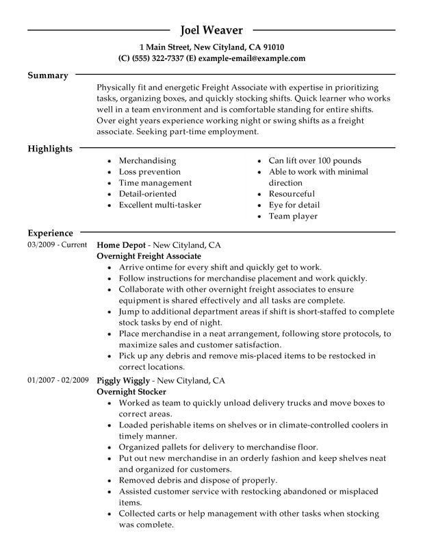 Stock Associate Resume | The Best Letter Sample