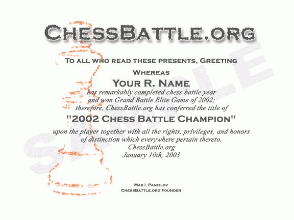 ChessBattle.org - certificates