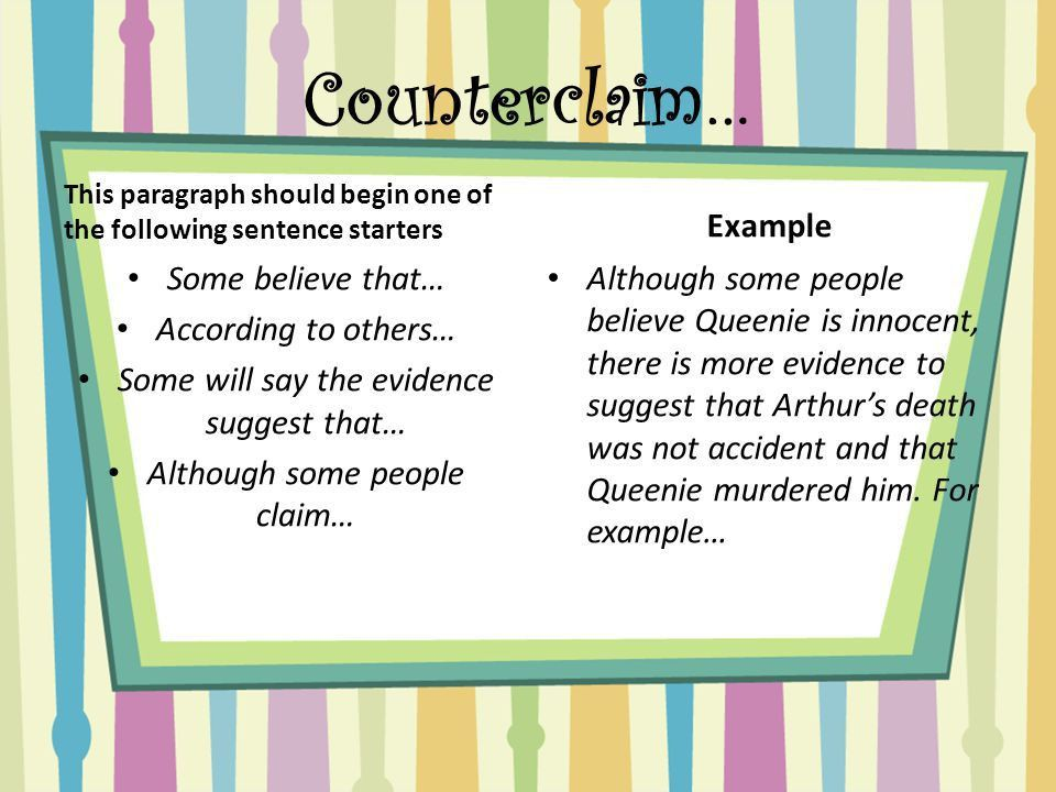 Argumentative Essay Is Queenie guilty or innocent? - ppt video ...