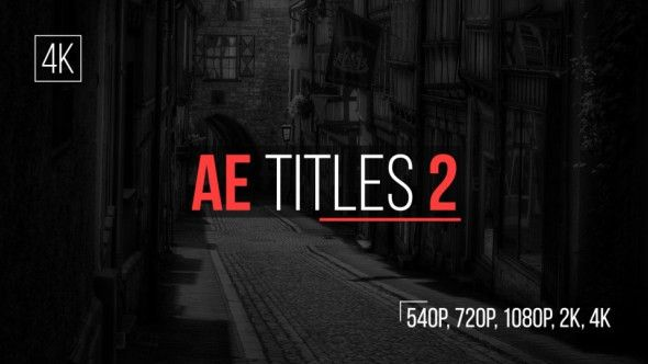 VIDEOHIVE AE TITLES 2 FREE AFTER EFFECTS TEMPLATE - Free After ...