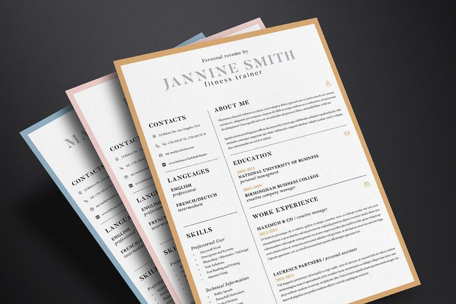 Clean Resume Template - Free Design Resources