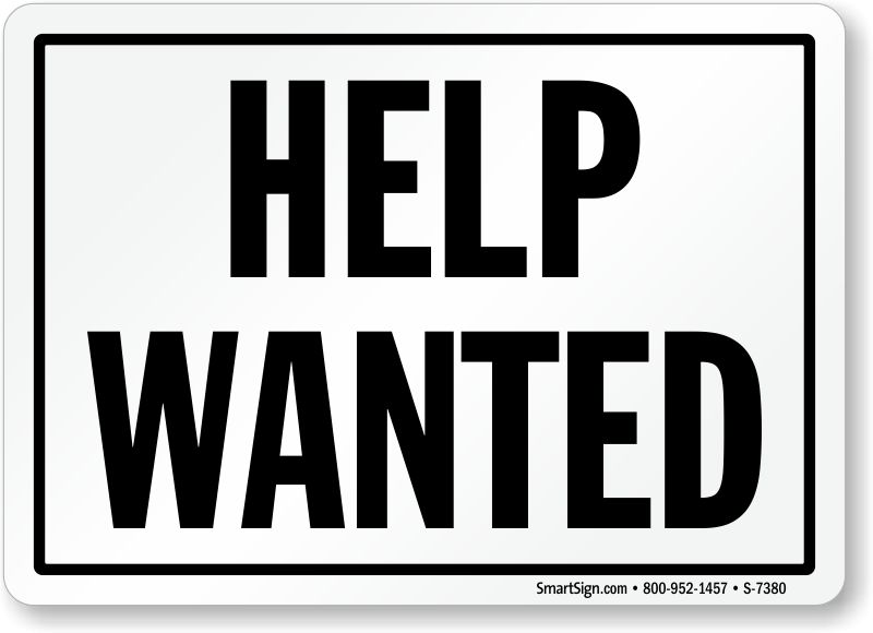 Help Wanted Sign - Customer Sign Online, SKU: S-7380