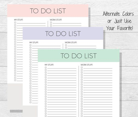 To Do List Printable Daily To Do List Daily Organizer