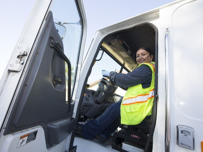 Rosie Lopez won the Rear-loading Category of a Statewide Garbage ...