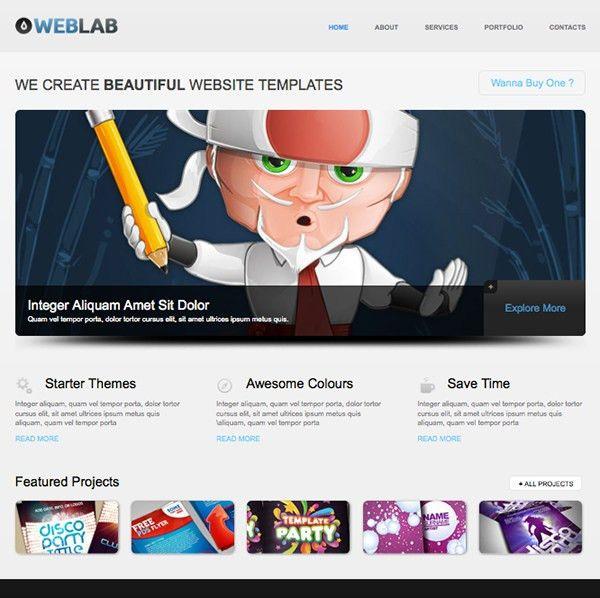 Free HTML5 Website Template of the Week: WebLab
