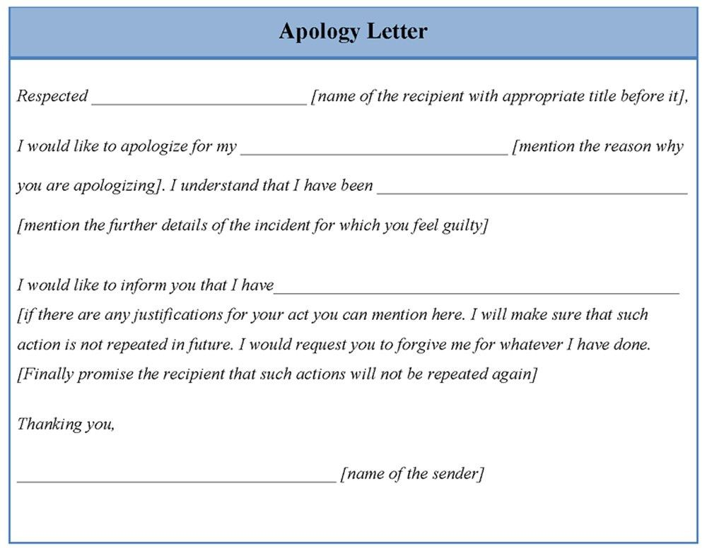 Professional Apology Letter Example. Customer Apology Letter .  Example Letter Of Apology