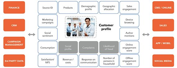 Building customer profiles in the era of big data - Hidden Insights