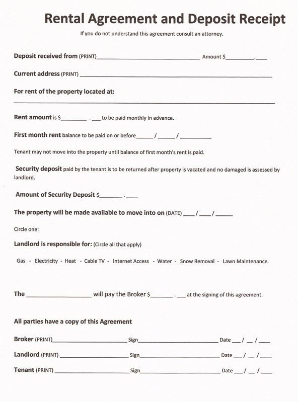 Simple Rental Agreement Form Free Download Month To Month Rental – Simple Rental Agreement Example