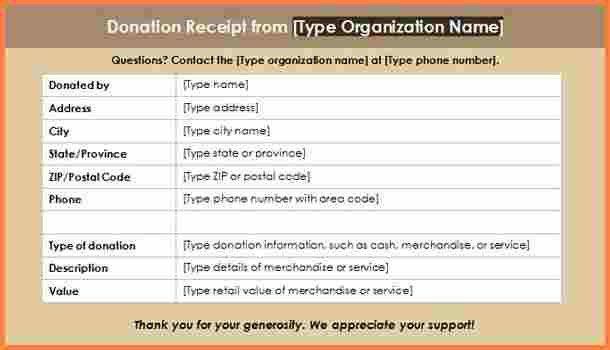 Church Donation Receipt Template. non profit donation receipt ...