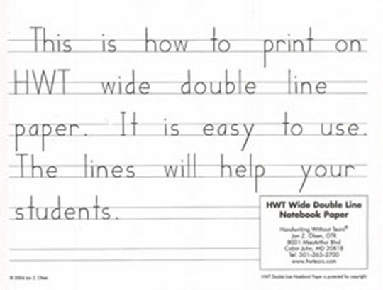 Canadian Home Education Resources. Handwriting Without Tears Wide ...