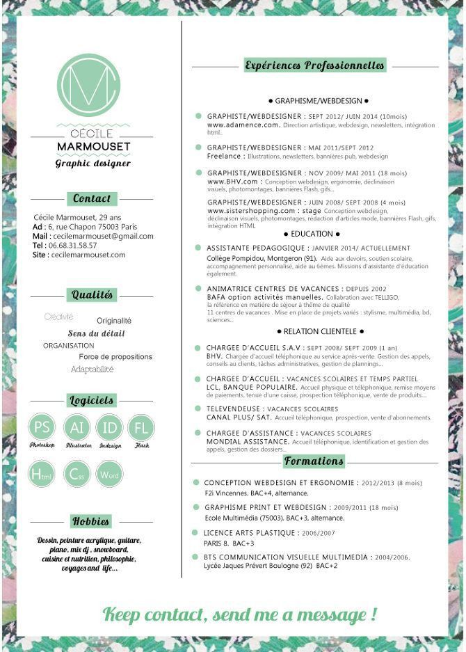 12 best Resume Template Designs images on Pinterest | Cv template ...