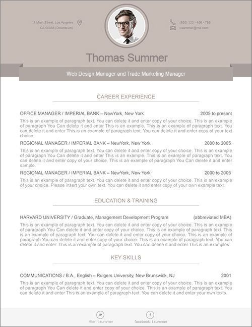 modern resume template 110500 premium line of resume cover letter ...