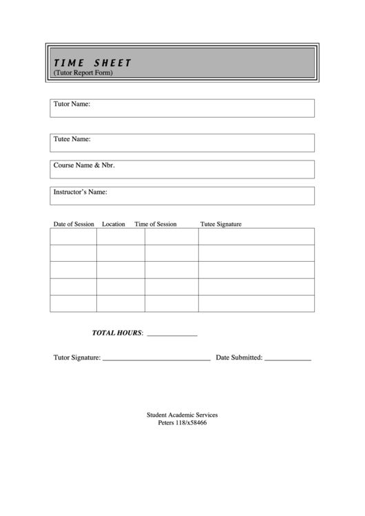 329 Timesheet Templates free to download in PDF, Word and Excel